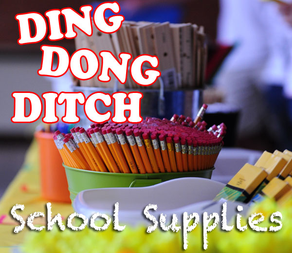 Ding Dong Ditch School Supplies 2014