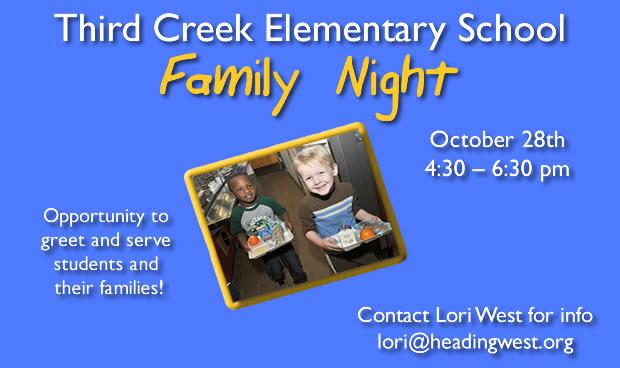 Third Creek Elementary Family Night!