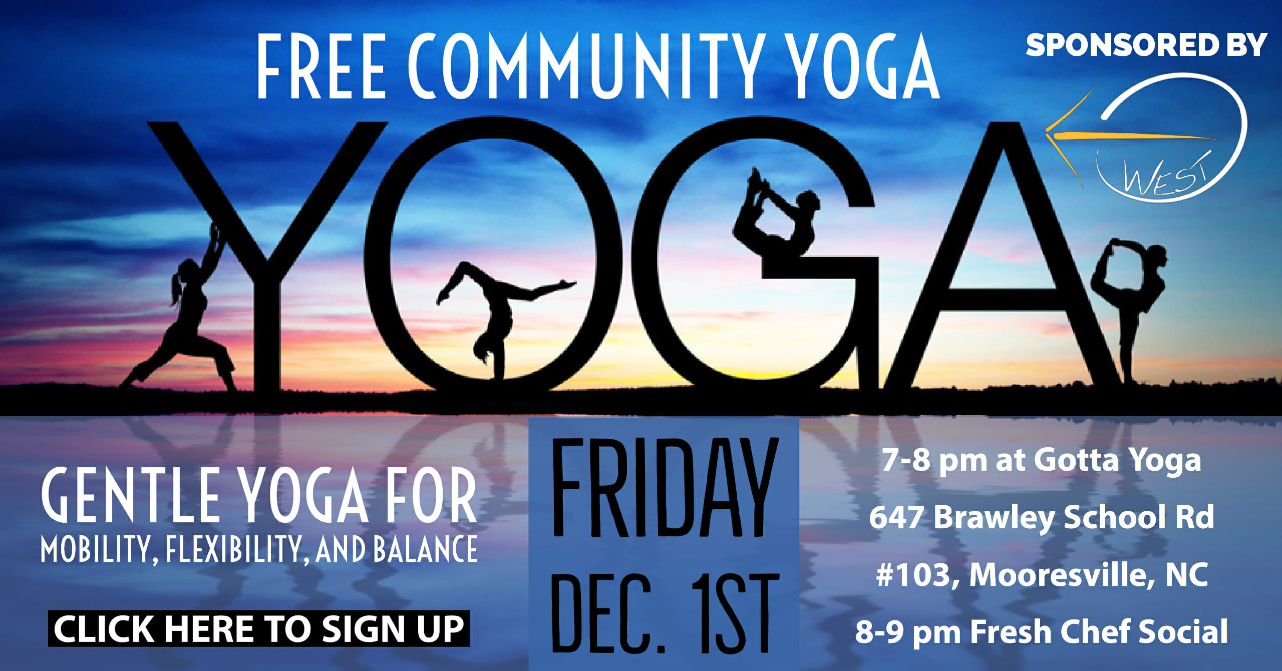 FREE Community Yoga and Social Every 1st and 3rd Friday!
