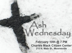 Ash Wednesday – February 10th @ 7PM